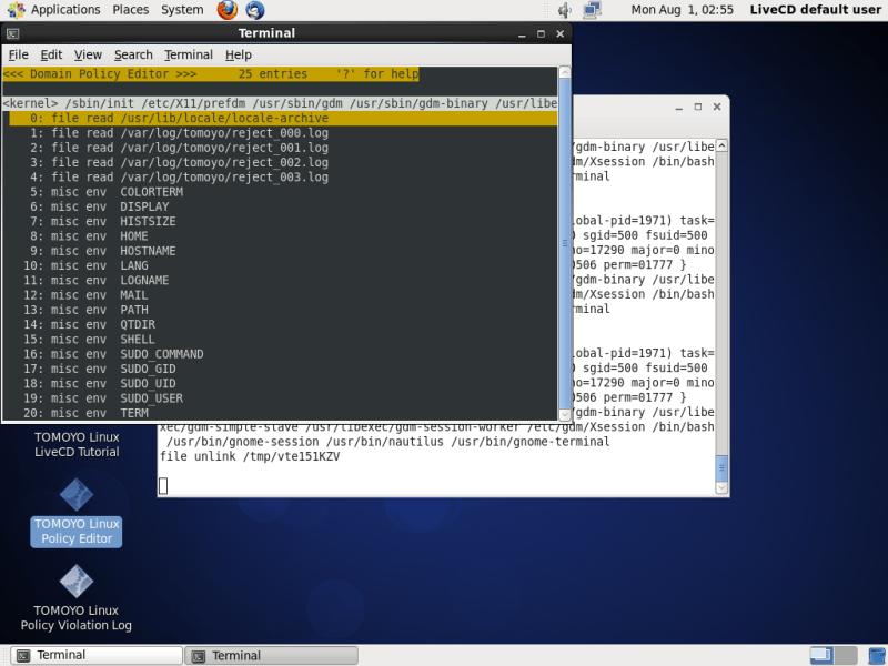 TOMOYO Linux LiveCD Tutorial for CentOS 6